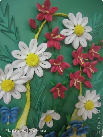 """Панно """"Летнее очарование"""" или корзинка в подарок. Хотелось полевых и садовых цветов!Родились Фиалки, ромашки и колокольчики.  фото 5"""