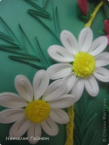 """Панно """"Летнее очарование"""" или корзинка в подарок. Хотелось полевых и садовых цветов!Родились Фиалки, ромашки и колокольчики.  фото 8"""