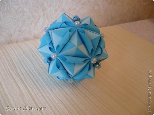 Моя любимая Томоко Фусе. Теперь в голубом виде. Книга Tomoko Fuse - Floral Globe Origami  стр.38-39 фото 4