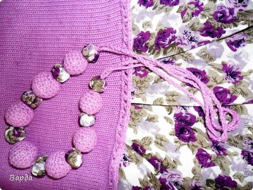 текстильные бусы фото 3