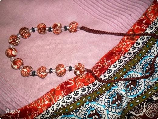 текстильные бусы фото 2