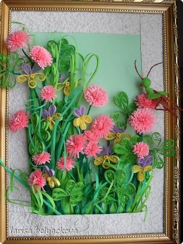 подобная полянка.Луговые цветы http://stranamasterov.ru/user/26042 фото 1