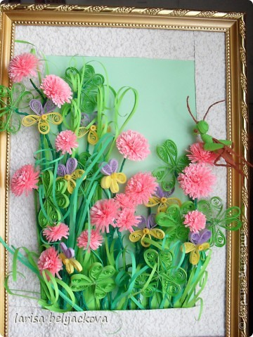 подобная полянка.Луговые цветы http://stranamasterov.ru/user/26042 фото 2