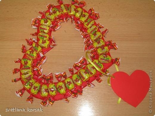 "1. ""Валентинка"" из конфет фото 1"