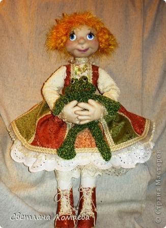 Разрешите представить принцесса Ксю. Текстильная кукла. фото 2