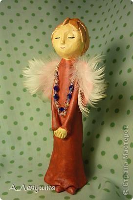 """Однажды увидела в журнале """"Домашний Очаг"""" статью Аси Гойзман и загорелась идеей. Теперь у меня есть свои собственные ангелы, и пусть идея не моя, но душу в них я вкладывала свою собственную. фото 4"""