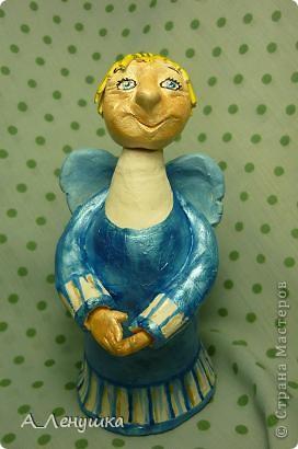 """Однажды увидела в журнале """"Домашний Очаг"""" статью Аси Гойзман и загорелась идеей. Теперь у меня есть свои собственные ангелы, и пусть идея не моя, но душу в них я вкладывала свою собственную. фото 6"""