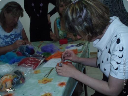 Мы ходили на МК, который проводила наша мастерица Анфисик, нам безумно понравилось и мы сваляли с Артушей вот такую бабочку.Анфиса огромное спасибо, очень ждем продолжения!!!!!!!!!!!!!!! фото 3