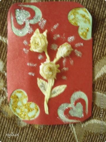 Наша мастерица Анфисик подарила мне очень нежный цветочек и сказала, чтобы я сделала себе карточку и вот я сделала:)))Анфиса, огромное, огромное тебе спасибо!!!!!!!!!!!!!!!! фото 1