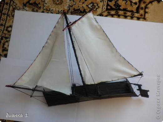Корабль сделан из палочек от салфеток под горячую посуду.Покрыла корабль специальным раствором и он теперь плавает!!!!!!!!!!!!!!!!!!!!!!!!!!!!!!!!!!!! фото 1
