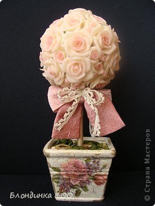 Дорогие мои, выставляю на ваш суд Розовое деревце.  фото 1