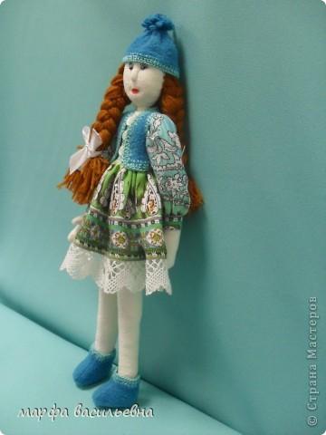 Куклу шила на заказ для маленькой девочки.Как всегда бросила все дела и окунулась в работу с головой. фото 2