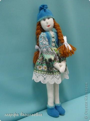Куклу шила на заказ для маленькой девочки.Как всегда бросила все дела и окунулась в работу с головой. фото 1