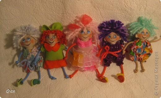 Вот они, мои чувырлики ,чучундрики , пушистики и одуванчики:))  Я так называю этих куклёшек, которых я сшила для своих куколок:))) фото 1
