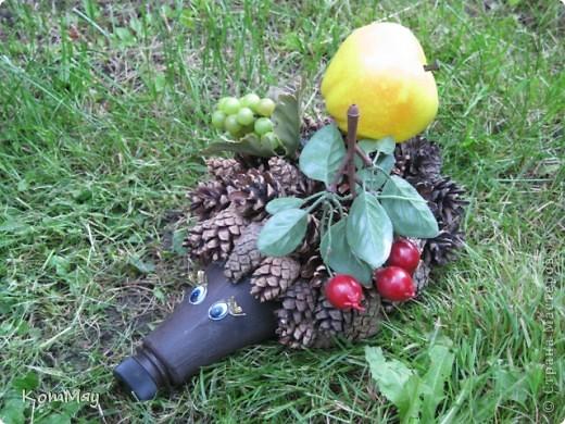 После того, как первый ёжик благополучно стал подрабатывать у нас на даче вазой, пришлось срочно делать второго. фото 1