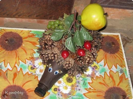 После того, как первый ёжик благополучно стал подрабатывать у нас на даче вазой, пришлось срочно делать второго. фото 2