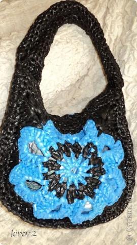 сумочка из полиэтиленовых пакетов фото 1