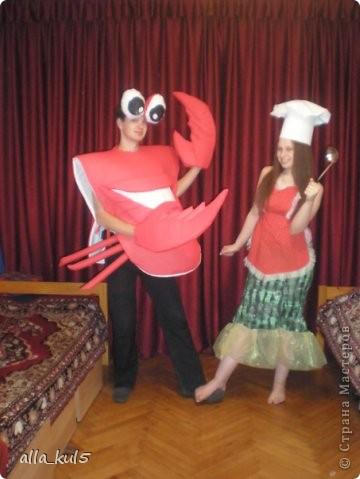 Краб Себастьян и Поваренок, 2009 год Костюмы для новогодней постановки в школе - интернате № 8 были сшиты безвозмездно за одну ночь))) фото 1