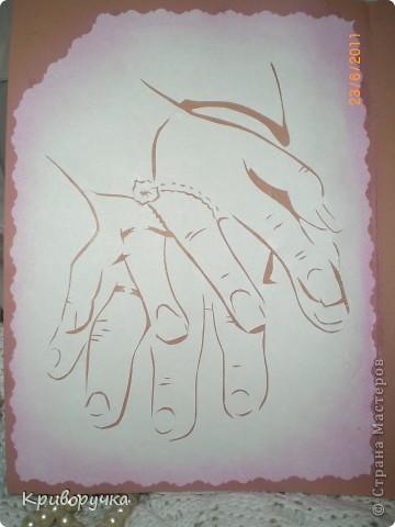 Свадебная открытка с лебедями 3Д фото 4