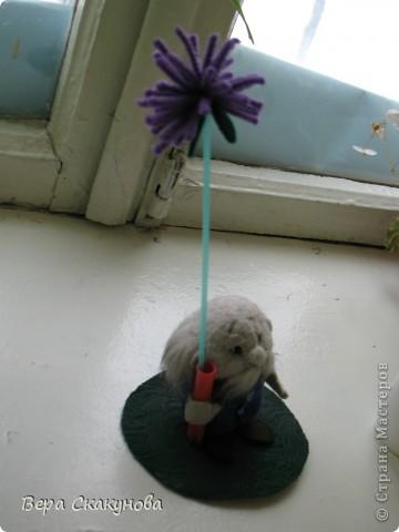 Лысик с с карандашницей и с вазочкой для цветов