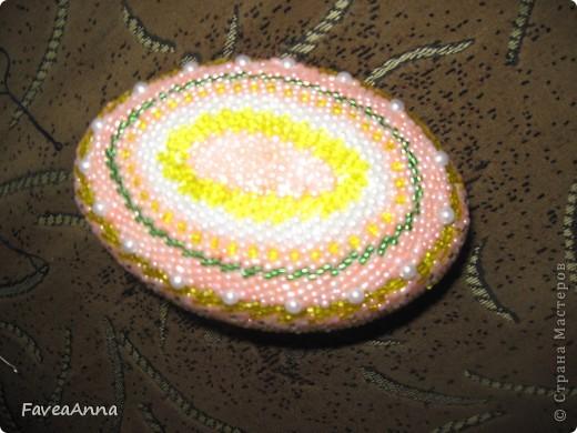 Оплетенное страусиное яйцо фото 1