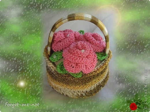 Корзиночка с розами  фото 1