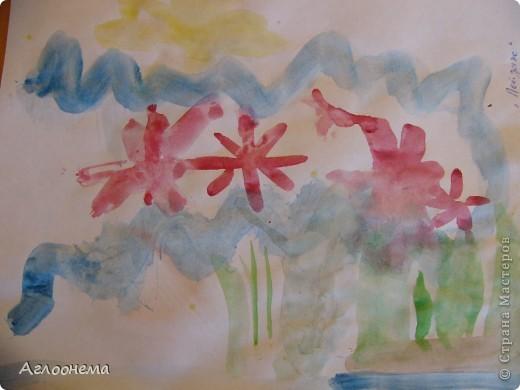 """Саша назвал этот рисунок - """"Пейзаж""""(акварель) фото 1"""