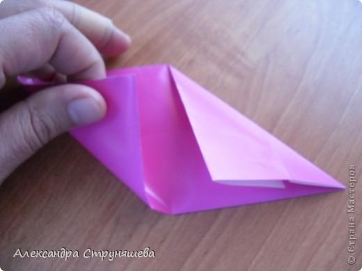1.Приготовим 6 одинаковых квадратных листов бумаги. фото 7