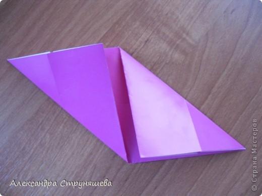 1.Приготовим 6 одинаковых квадратных листов бумаги. фото 8
