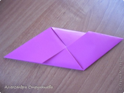 1.Приготовим 6 одинаковых квадратных листов бумаги. фото 16