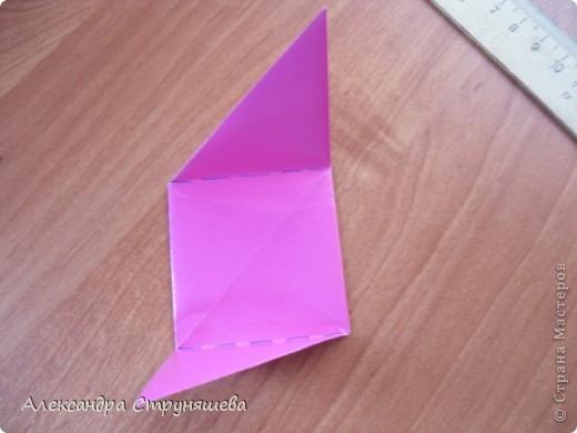 1.Приготовим 6 одинаковых квадратных листов бумаги. фото 19