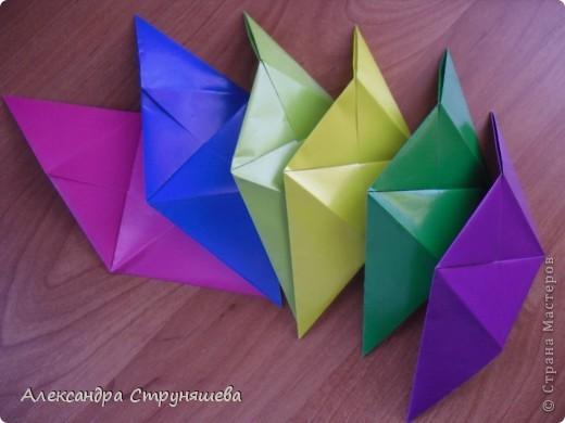 1.Приготовим 6 одинаковых квадратных листов бумаги. фото 20
