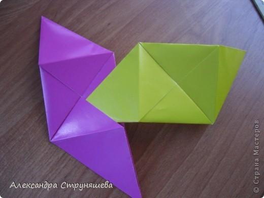 1.Приготовим 6 одинаковых квадратных листов бумаги. фото 21