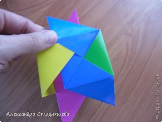 1.Приготовим 6 одинаковых квадратных листов бумаги. фото 27