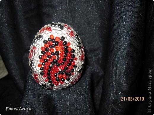 Оплетенное страусиное яйцо фото 4