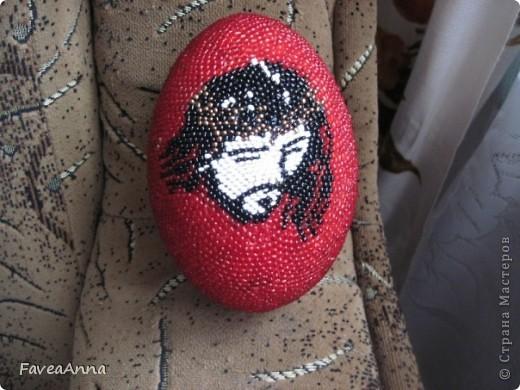 Оплетенное страусиное яйцо фото 10