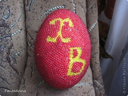 Оплетенное страусиное яйцо фото 11