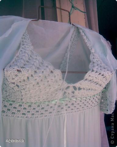 Это платье -мое любимое...Лиф выполнен крючком из х/б ниток...К нему идет болеро из шифона и сумочка для мелочей фото 3