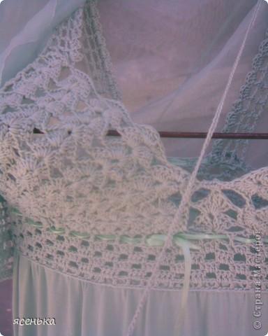 Это платье -мое любимое...Лиф выполнен крючком из х/б ниток...К нему идет болеро из шифона и сумочка для мелочей фото 4