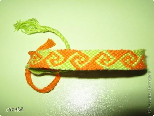 фенечки из мулине  браслет дружбы (косое плетение) фото 1
