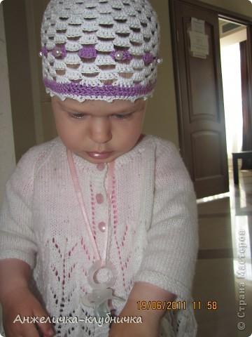 эта шапочка для крестницы фото 6