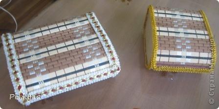 Ещё две шкатулочки из салфеток фото 4
