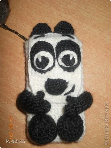 Сумочка для телефона. Панда