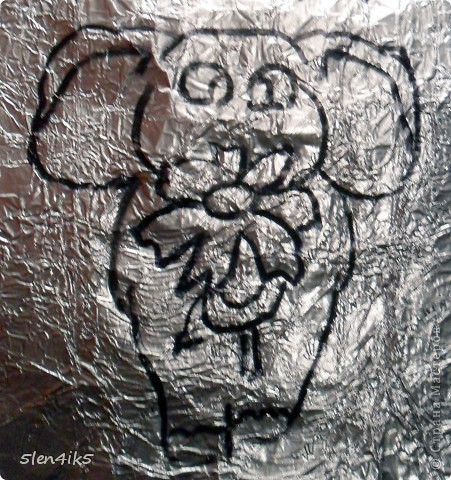 Раньше у меня было увлечение рисовать на стенах друзей граффити (сайт вконтакте). И каждый нарисованный рисунок сохраняла на память в компьютере (около 100 рисунков). И вот решила испробовать лепку из солёного теста, а именно слоника, которого я нарисовала вконтакте)) фото 3