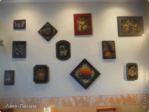 Это мои работы по росписи, работы сделаны больше 10 лет назад, но моя мама самая преданная поклонница сохранила из и на ее кухне они еще живут.  фото 1
