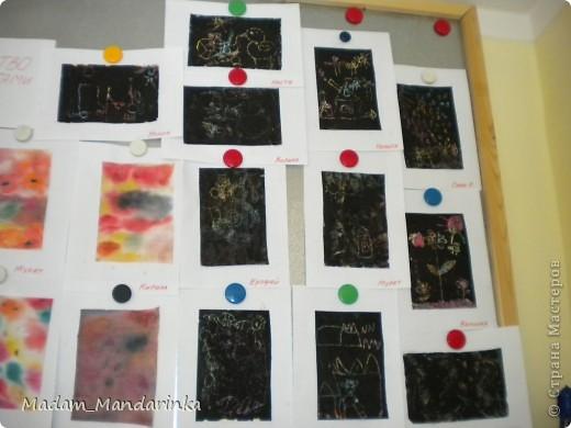 старательно покрываем фон))) очень уж дети удивились необходимости все закрасить черным) фото 5