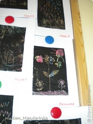 старательно покрываем фон))) очень уж дети удивились необходимости все закрасить черным) фото 6
