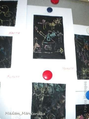 старательно покрываем фон))) очень уж дети удивились необходимости все закрасить черным) фото 7