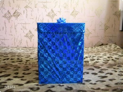 Эту коробочку мы все создали для нашей мамочки на юбилей!!!!! Коробка - раскладушка!!! фото 1