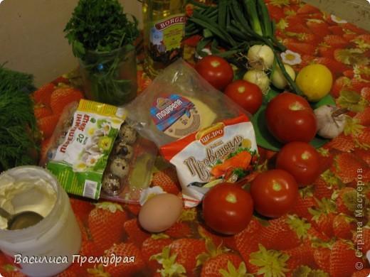 Запеченые помидоры,фаршированные сыром фото 2